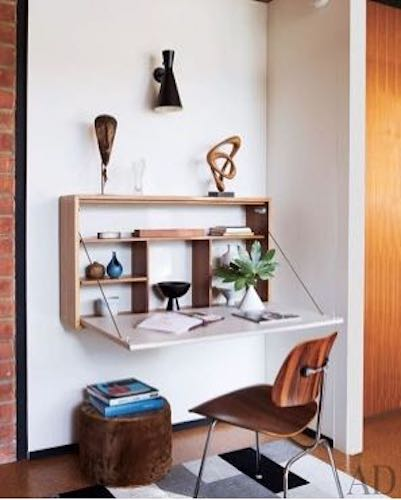 Build a Fold Down Desk Wall Mounted using free plans.