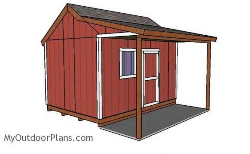 Shed with Side Porch