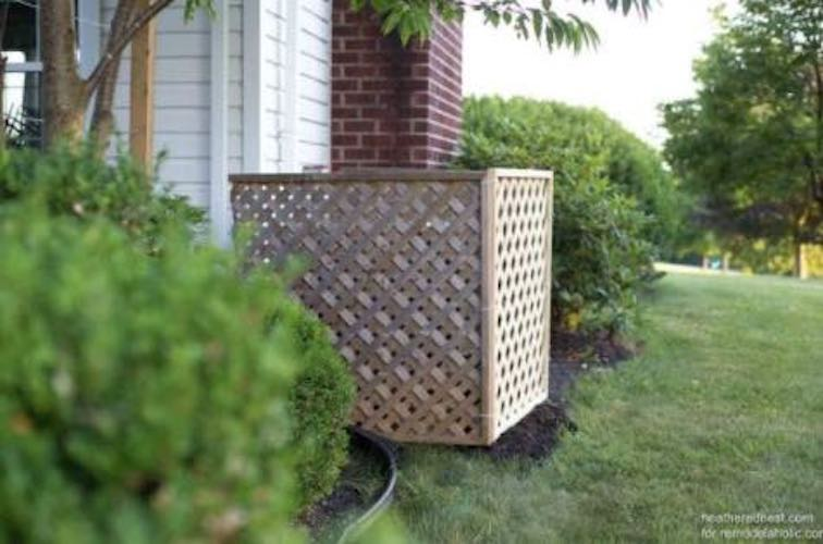 Build an Air Conditioner Screen using free plans.