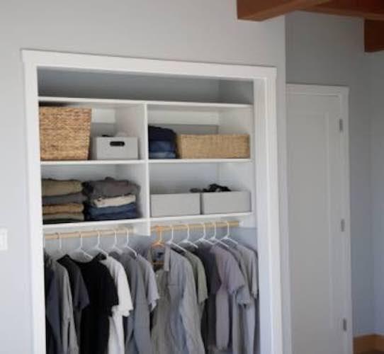 Build a Basic Closet Organizer using free plans.