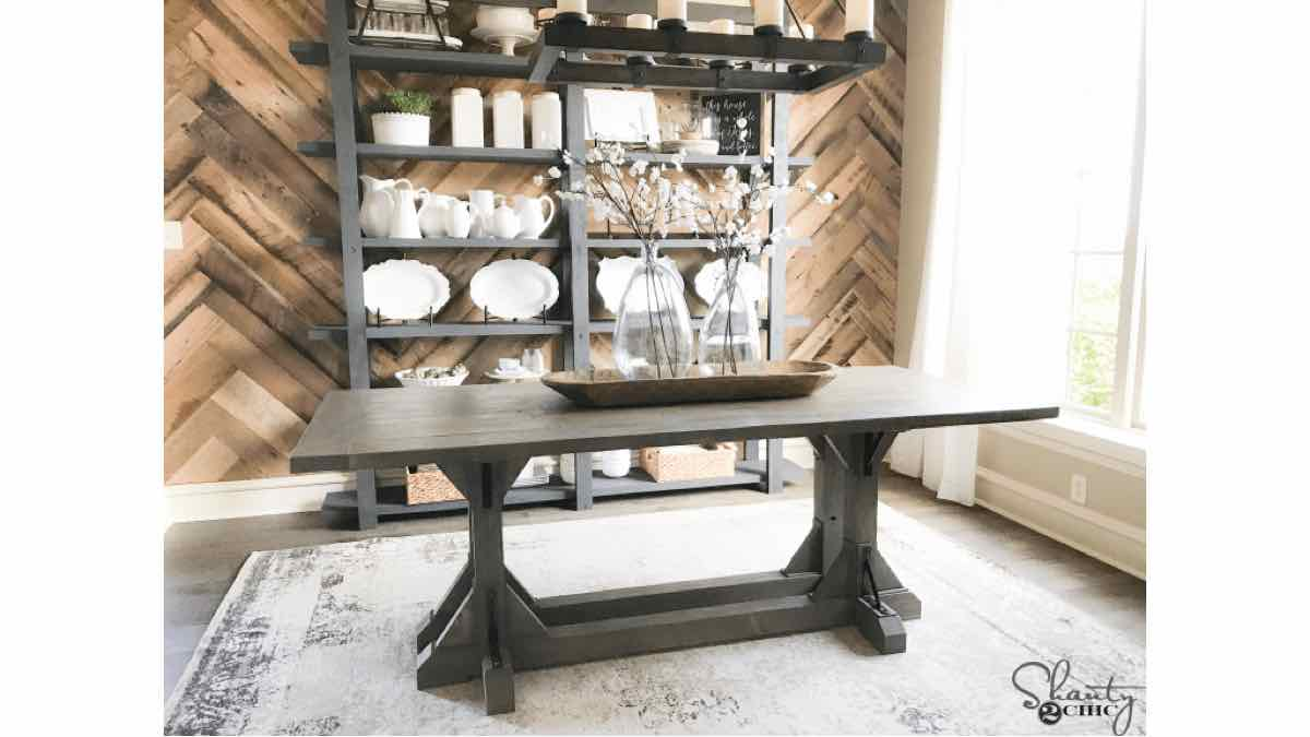 farmhouse tables,dining room tables,diy,free woodworking plans,free projects,do it yourself