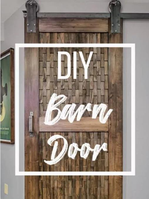 Build a Barn Door From Plywood using free plans.