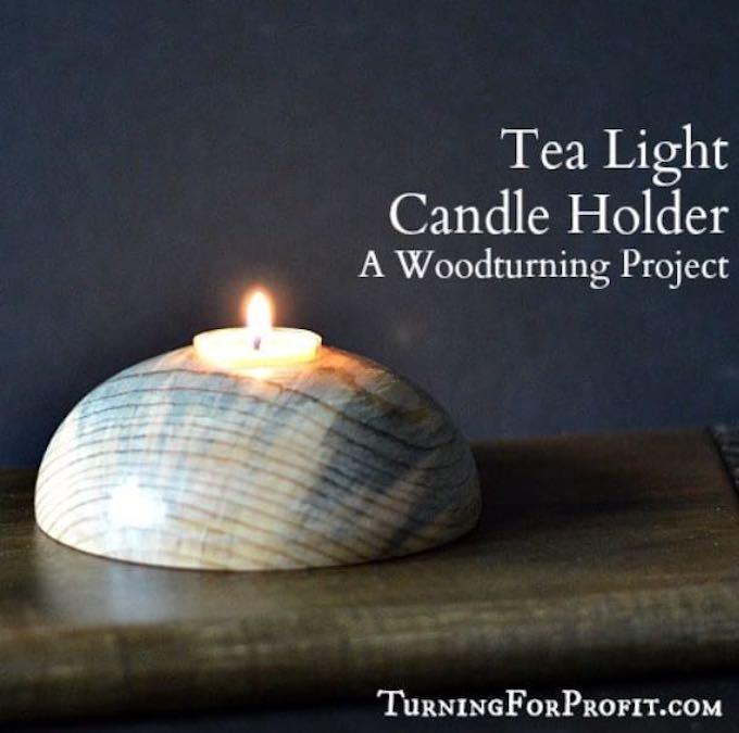 Learn to turn a Tea Light Holder on the lathe.