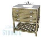 DesignsByStudioC,diy,free woodworking plans,vanities,vanity,bathroom cabinets,furniture,free projects,do it yourself