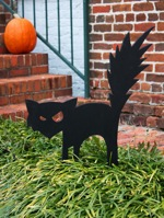 Black Cat Halloween Yard Art,free woodworking plans,projects