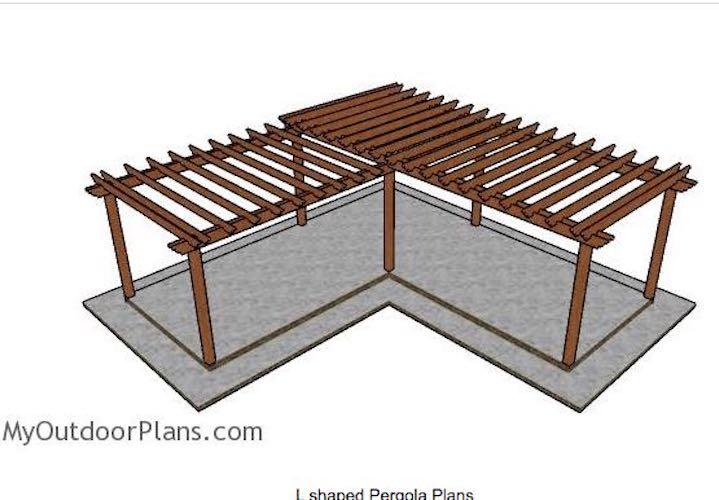 Build a Pergola L Shaped using free plans.