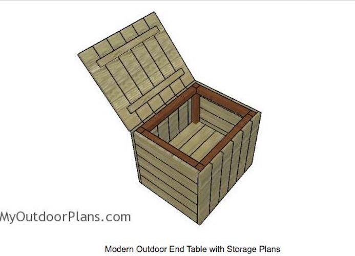 Outdoor Side Table with Storage