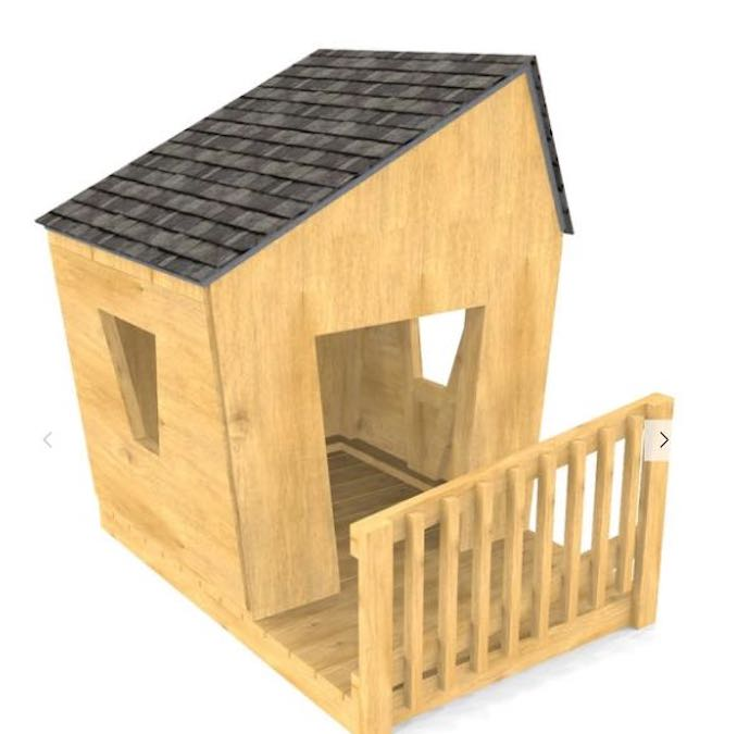Free plans to build a Toddler Playhouse.