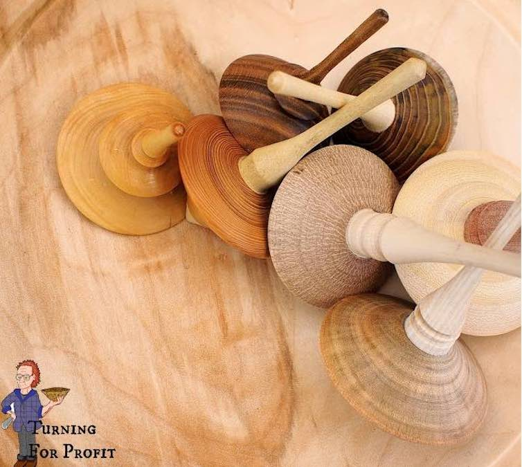 Learn to turn Spinning Tops on the lathe.