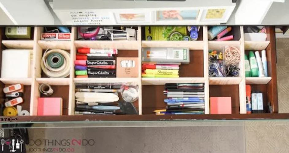 Free plans to build Drawer Dividers Organizer.