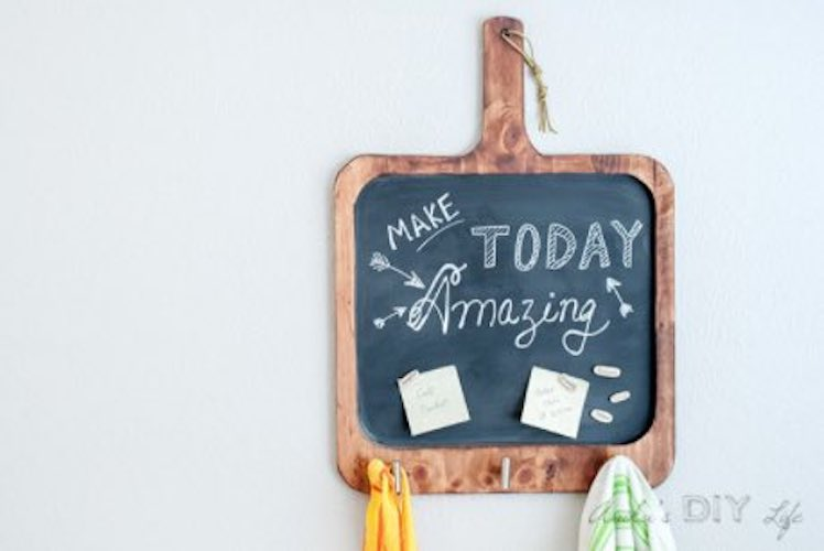Build a Small Magnetic Chalkboard using free plans.
