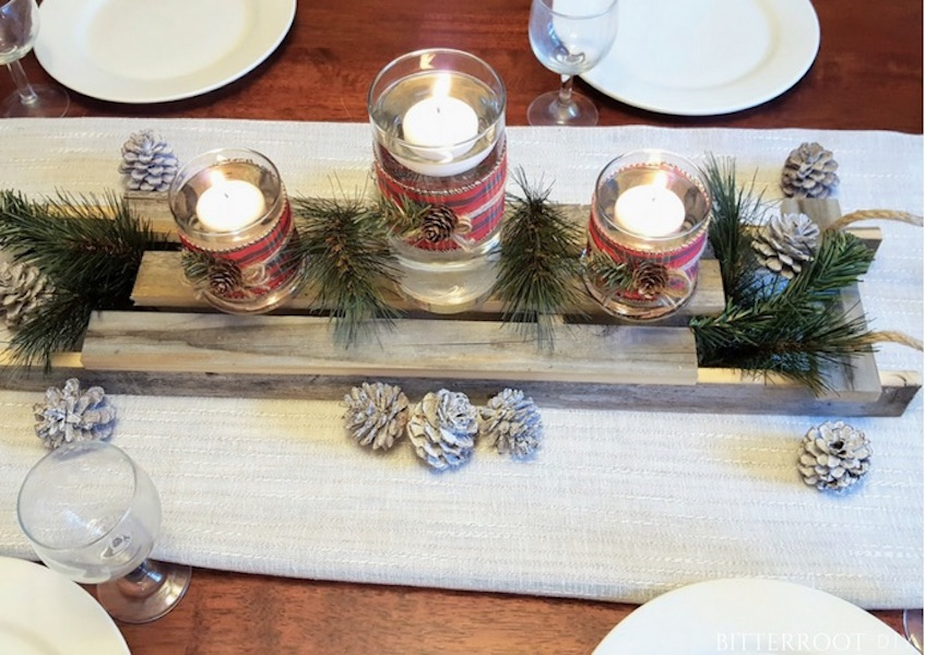 Build a Sled Christmas Centerpiece using free plans.