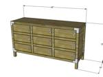 DesignsByStudioC,dressers,bedrooms,furniture,diy,free woodworking plans,free projects,do it yourself