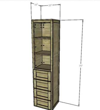 Build a bathroom linen tower for extra storage.