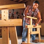 sawhorses,adjustable,DIY instructions,free woodworking plans,do it yourself,workshop projects