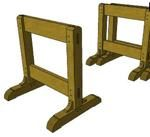 sawhorses,sketchup,Google 3D,3-D warehouse,stackable,free woodworking plans,workshop projects,do it yourself