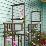 trellis,climbing plants,freestanding,free woodworking plans,projects,outdoors,do it yourself,woodworkers