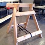 sawhorses,collapsible,folding,free woodworking plans,workshop projects,diy