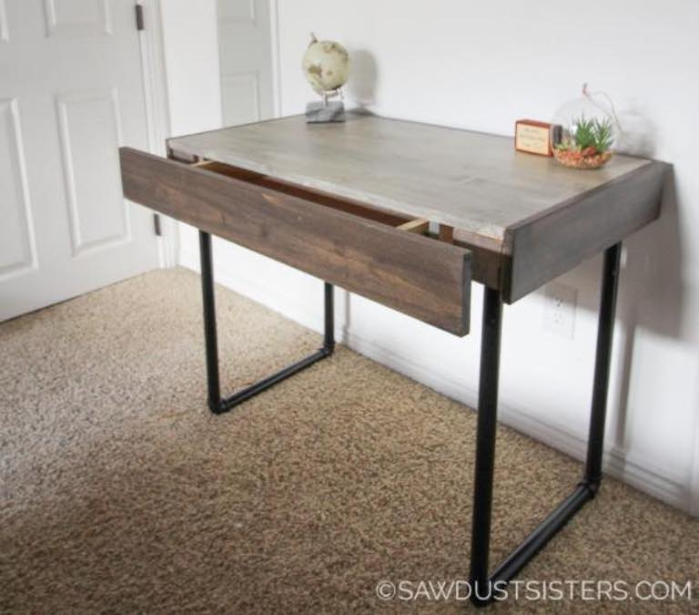 Build a Small Computer Desk using free plans.