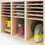 sandpaper cabinet,tool cabinets,diy,free woodworking plans,workshop projects,do it yourself