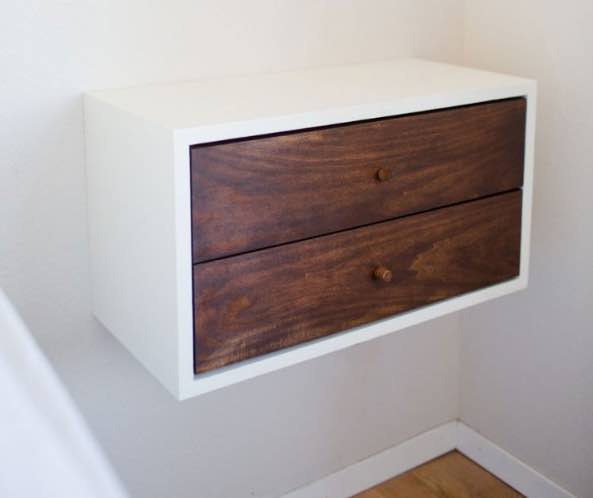 floating nightstands,wall mounted night stands,diy,free woodworking plans,free projects,do it yourself