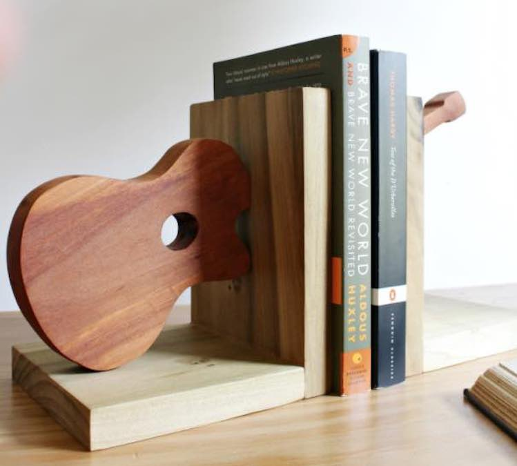 Build these neat Guitar Bookends.