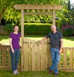 gardens,gates,arbors,fences,free woodworking plans,projects,do it yourself