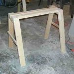 free woodworking plans, projects, sawhorses, how to build, workshop