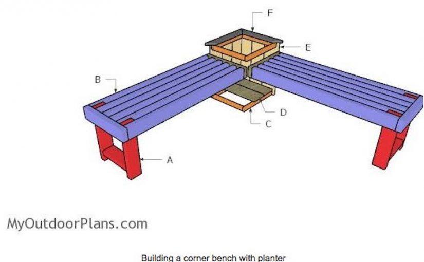 Corner Bench with Planter