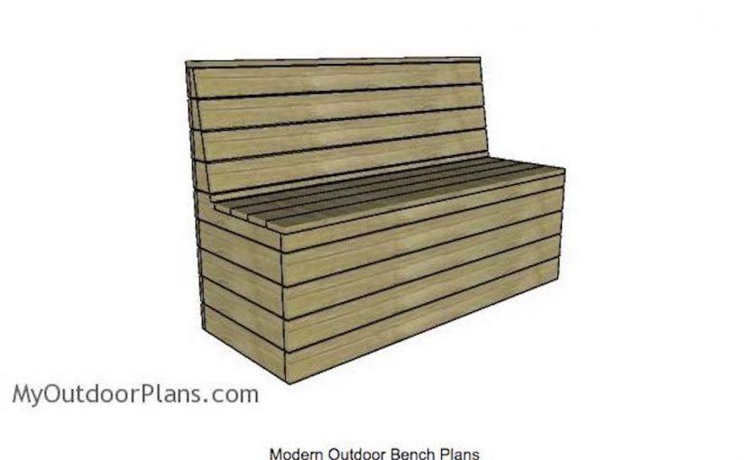 Modern Outdoor Bench