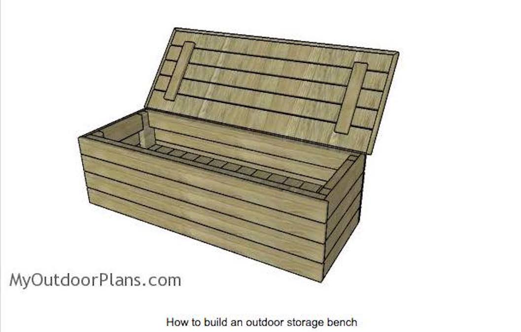 Free plans to build a Modern Storage Bench.