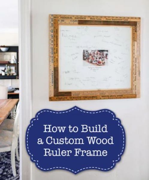 Free plans to build a Picture Frame using Rulers.