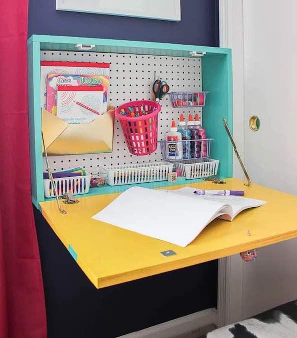 Wall Mounted Desks Free Woodworking, Fold Down Wall Desk Plans
