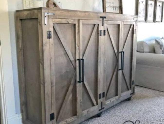 Farmhouse X Storage Cabinet