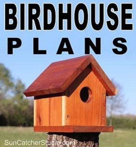 Free plans to build a backyard Birdhouse.