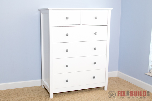 Download the free plan at the link to build a Dresser.