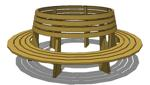 tree benches,circular bench,circle,free woodworking plans,projects,diy