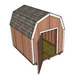 garden shed,gambrel shed,8 x 10 shed,diy,free woodworking plans,free projects,do it yourself