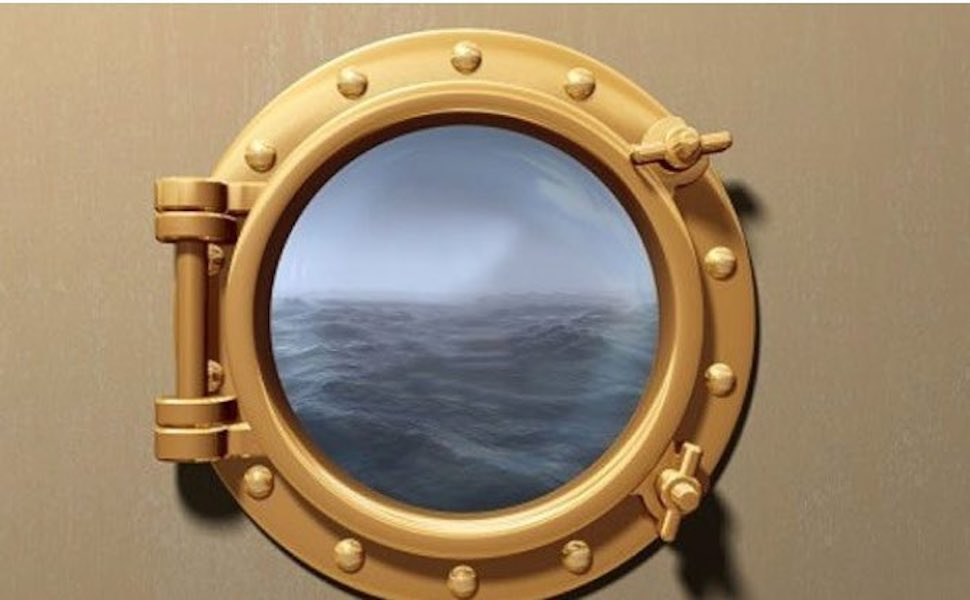 Free plans to build a Porthole Picture Frame.
