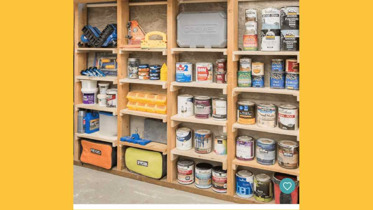 garage storage shelves,basement storage shelves,diy,free woodworking plans,free projects,do it yourself