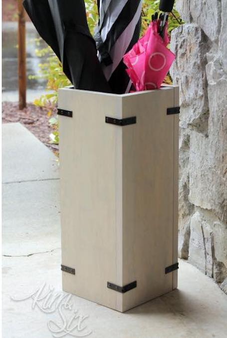 Free plans to build this Umbrella Stand.