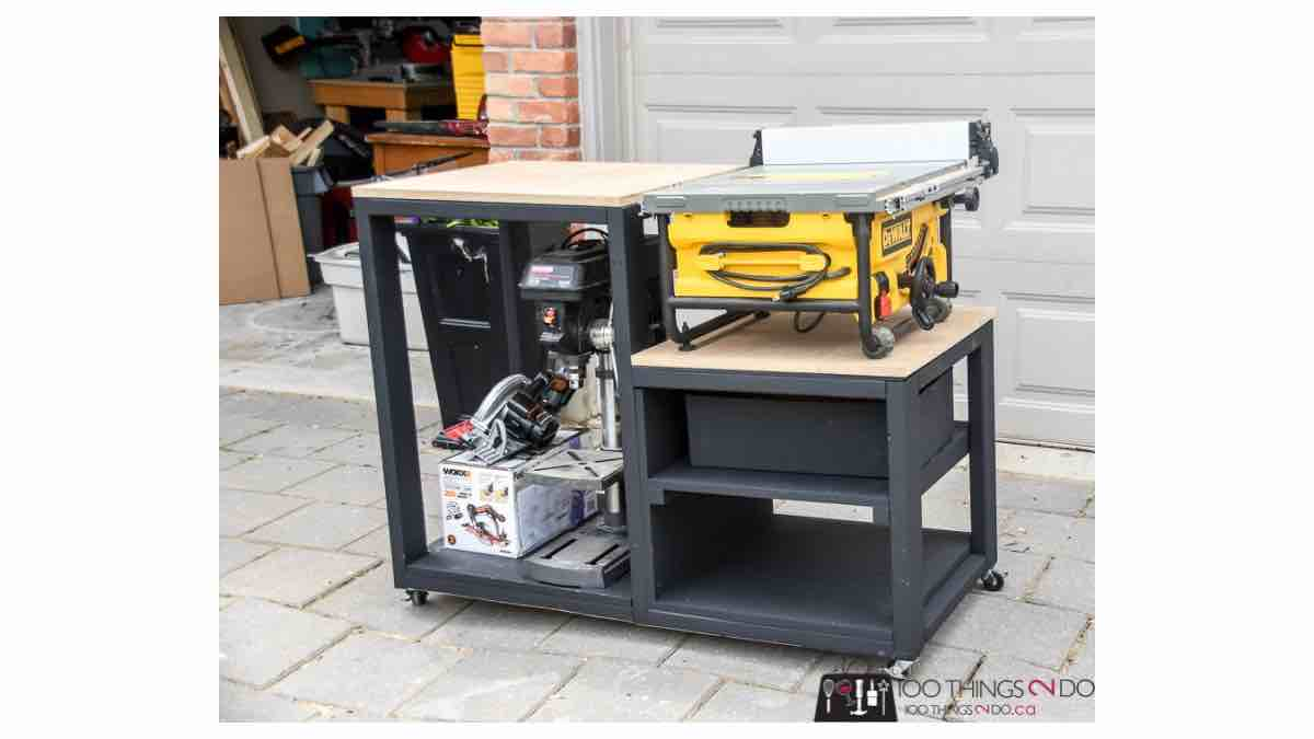 table saw stands,workshop stand,diy,free woodworking plans,free projects,do it yourself