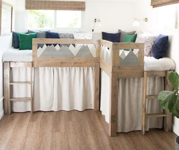 L Shaped Kid Beds with Storage