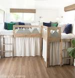 kids bed,loft beds,bunk beds,diy,free woodworking plans,free projects,do it yourself