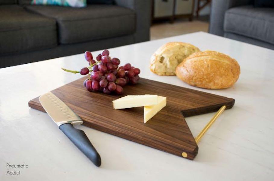Build a Modern Cutting Board using free plans.