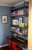 industrial,shelves,desk,childrens,diy,free woodworking plans,free projects,do it yourself