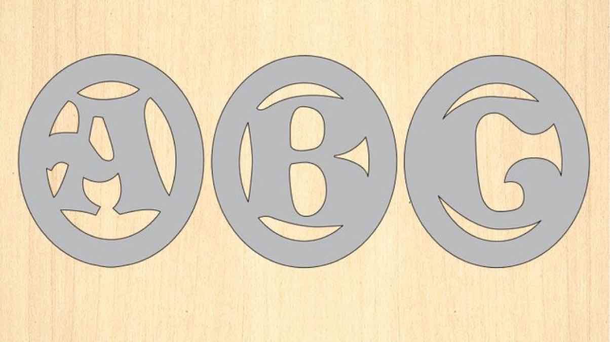 monogram,alphabet patterns,scroll saw,diy,free woodworking plans,free projects,do it yourself