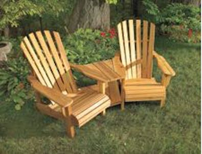 Free plans to build a Double Muskoka Chair.