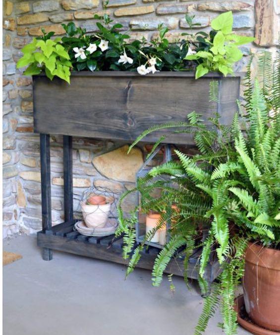 Build a Raised Porch Planter using free plans.