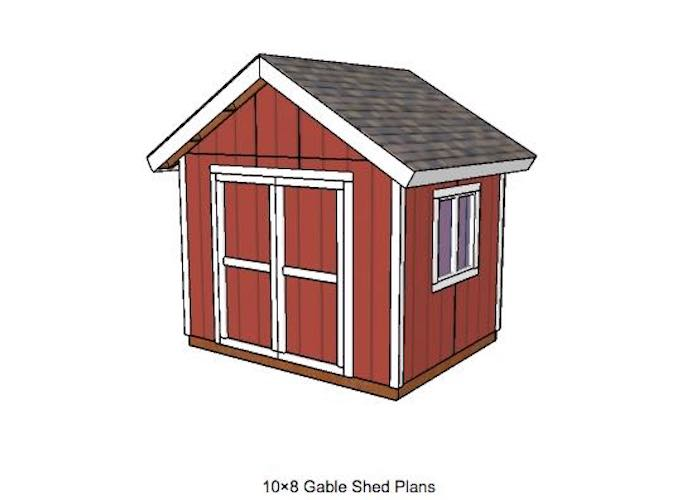Gable Shed 10 x 8 Feet